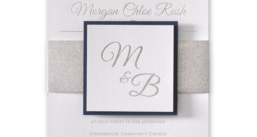 Silver Wedding Invitations Layers Of Luxury Silver Foil Invitation Invitations Dawn
