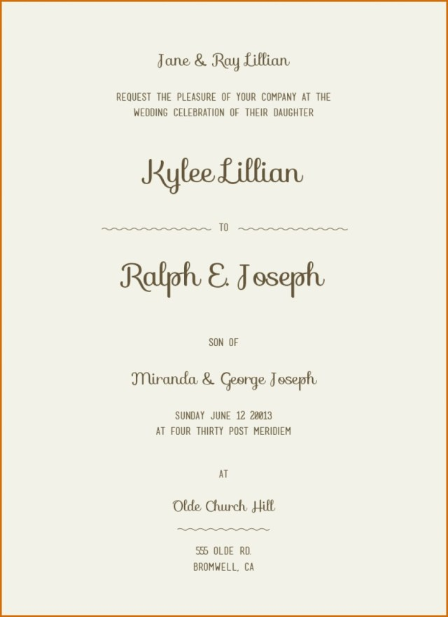 Simple Wedding Invitation 28 Art Gallery Simple Wedding Invitation Wording Memorable Co