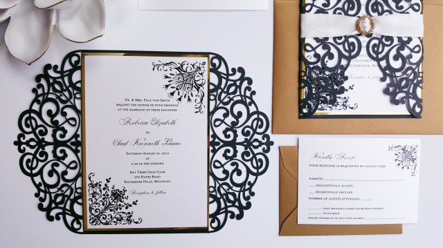 Simple Wedding Invitation Black And White Wedding Invitation Paper Unique Elegant Simple