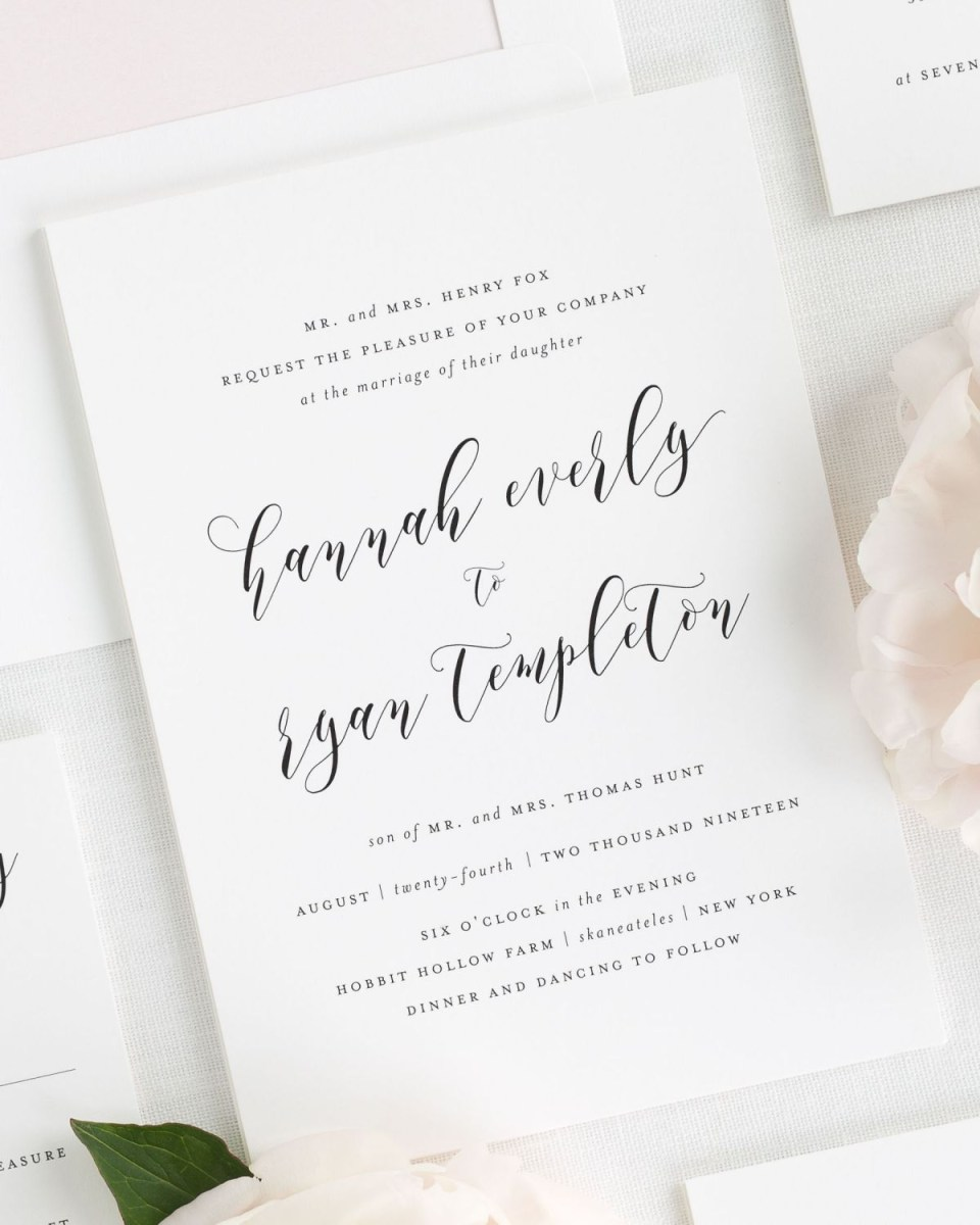 32+ Amazing Photo of Simple Wedding Invitation