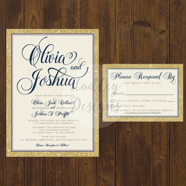 Simple Wedding Invitation Hadley Designs Elegantclassic