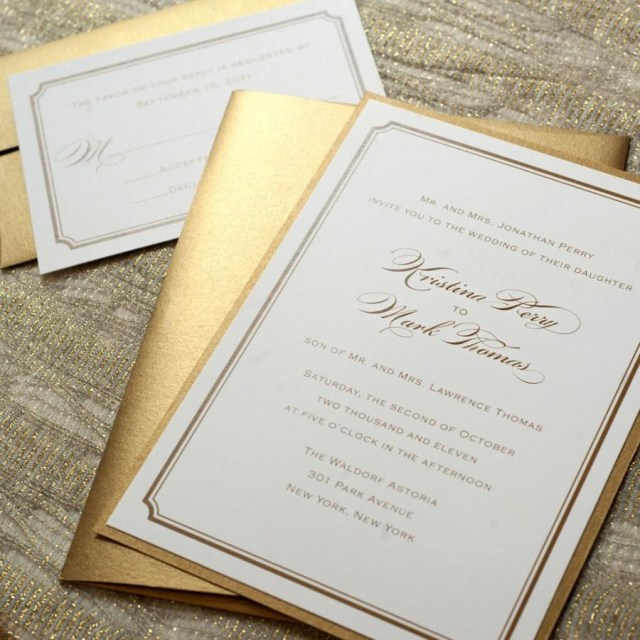 Simple Wedding Invitation Simple Gold Wedding Invitation Gold Wedding Invitations Simple