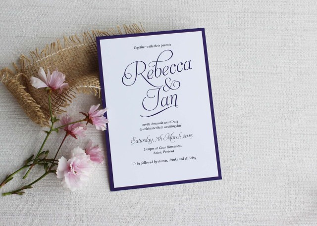 Simple Wedding Invitation Simple Script Wedding Invitations Be My Guest