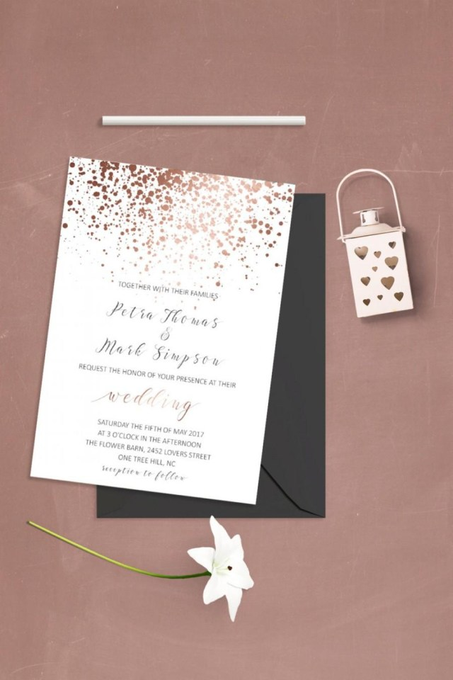 Simple Wedding Invitation Simple Wedding Invitation Template Modern Wedding Invitation Set