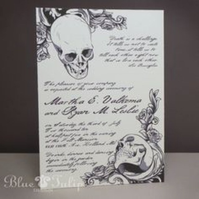 Skull Wedding Invitations Skull Wedding Invitations Fresh Deadly Gorgeous Wedding Invitations