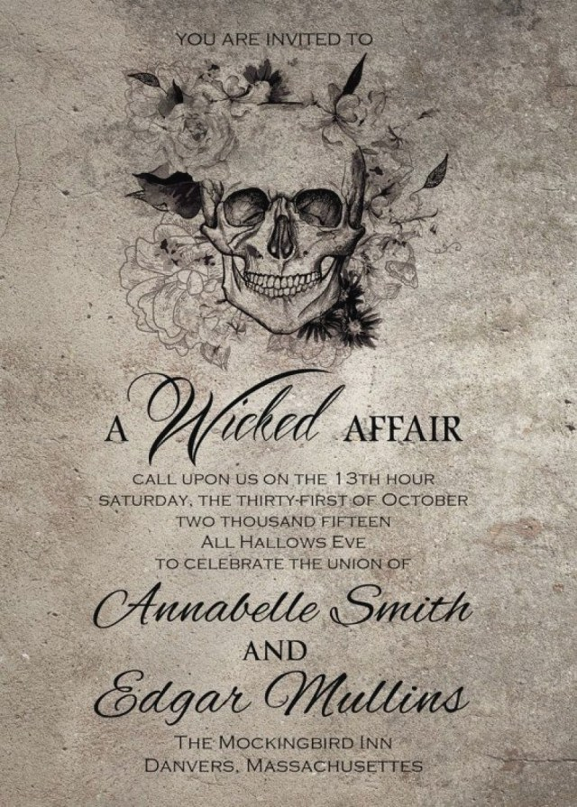 Skull Wedding Invitations Skull Wedding Invitations Luxury Skull Wedding Invitations Skull