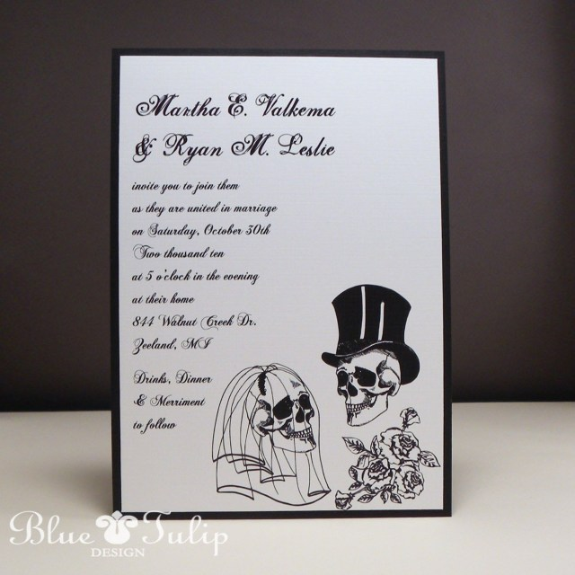 Skull Wedding Invitations Wedding Skulls Alternative Style Wedding Invitation Pinterest