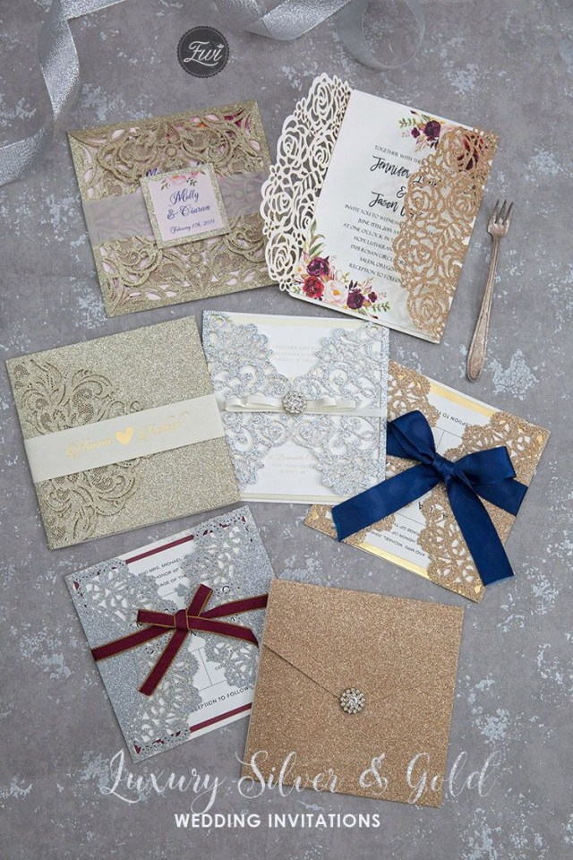 Sparkly Wedding Invitations Fall In Love With Glittery And Sparkly Wedding Invitations Wedding