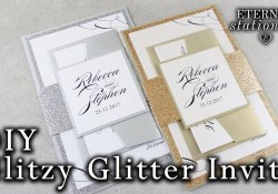 Sparkly Wedding Invitations How To Make Elegant Glitter Wedding Invitations With Belly Band