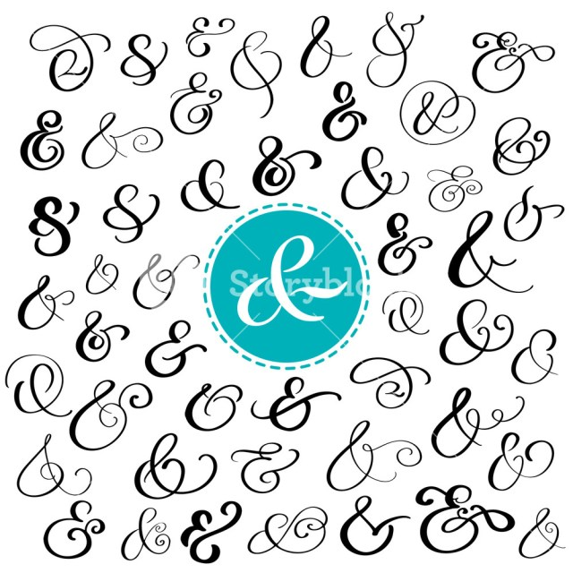 Symbols For Wedding Invitations Big Collection Of Custom Handwritten Ampersands Polished Hand Drawn
