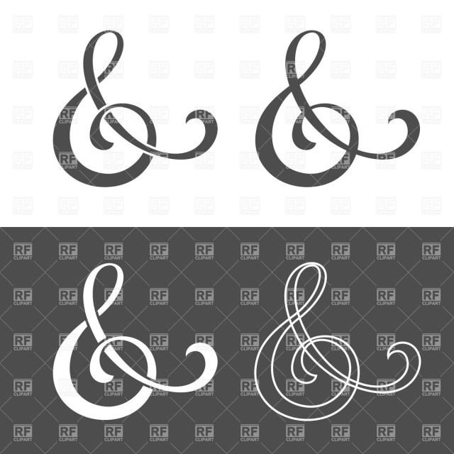 Symbols For Wedding Invitations Custom Ampersand Symbol For Wedding Invitation Vector Image