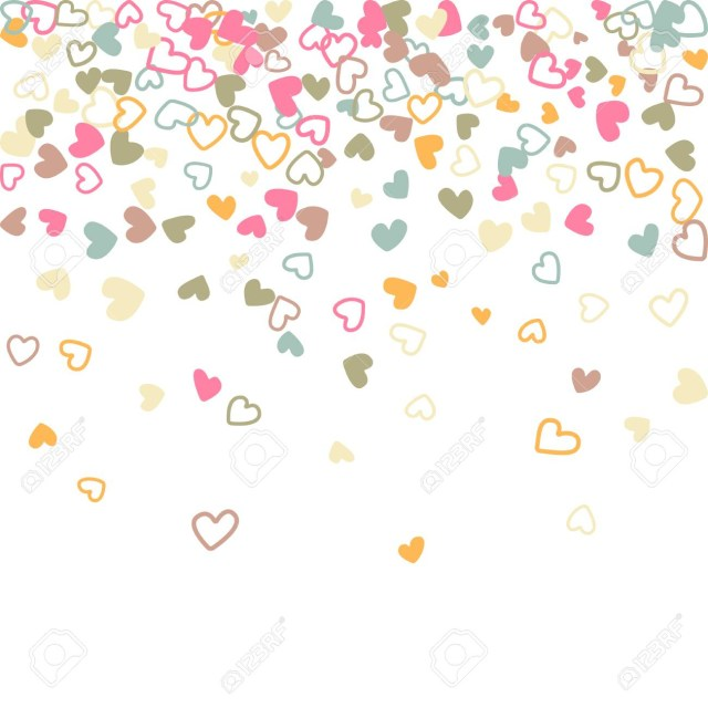 Symbols For Wedding Invitations Flying Hearts Pastel Pattern Background Illustration With Love