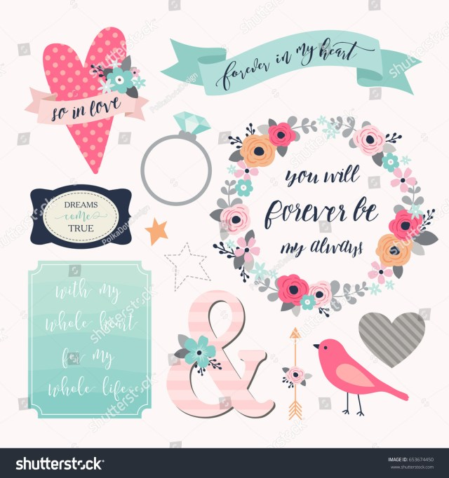 Symbols For Wedding Invitations Love Stickers Signs Symbols Objects And Templates For Planners