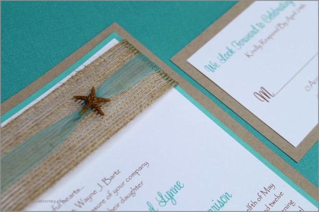 Teal Wedding Invitations Kits Beach Themed Wedding Invitation Kits 30 Unique Diy Wedding