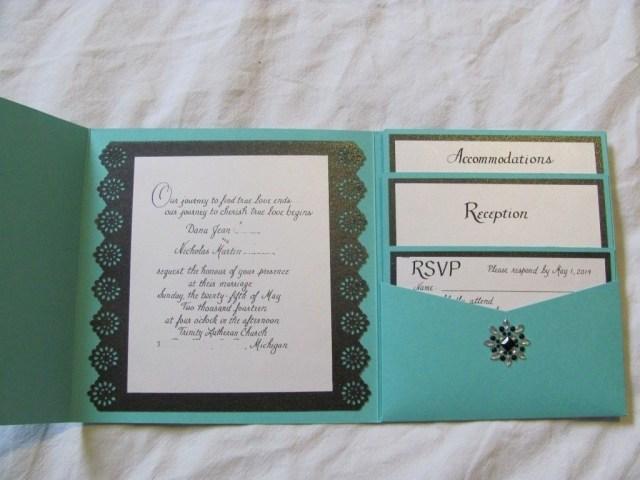 Teal Wedding Invitations Kits Blank Wedding Invitation Kits Check More Image At Httpbrilliant