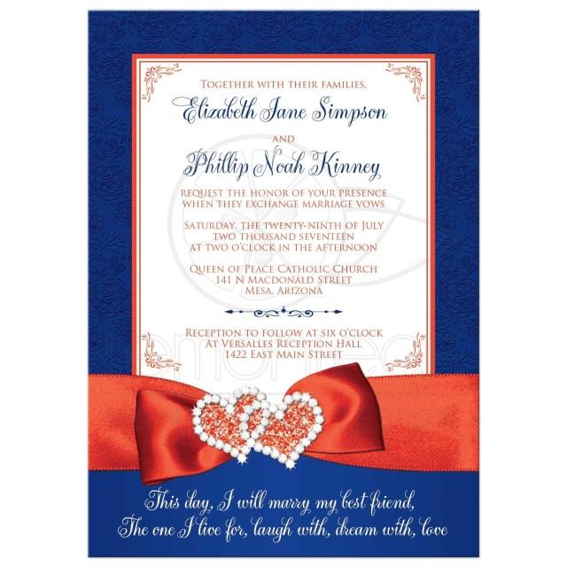 Teal Wedding Invitations Kits Orange Wedding Invitations 48468 Rectangle Blue White Glitter Hearts