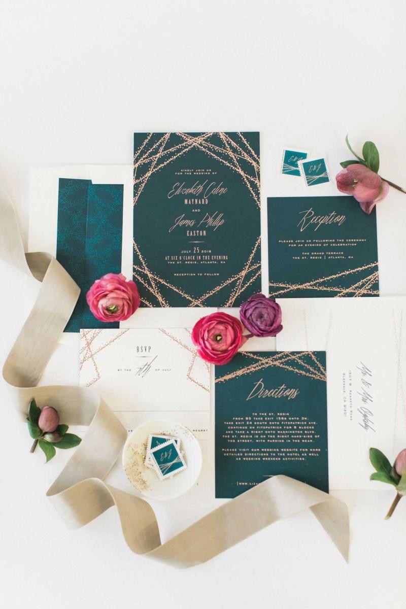 Teal Wedding Invitations Kits Teal Wedding Invitations Kits Fresh 14 Geometric Wedding Invitations