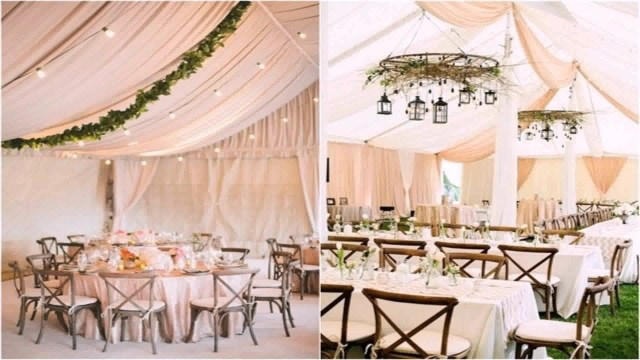 Tent Decorations For Wedding Diy Decorate Wedding Tent Youtube