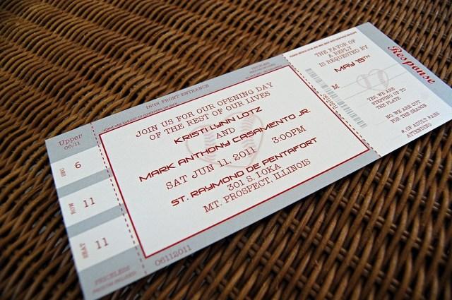 Ticket Wedding Invitations Baseball Ticket Wedding Invitations Love Baseball Inspired