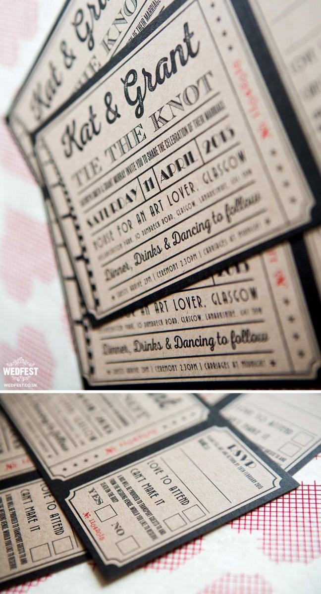 Ticket Wedding Invitations Kraft Card Ticket Wedding Invitations Client Work In 2018