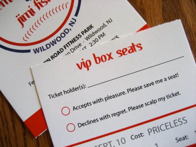 Ticket Wedding Invitations Printable Baseball Ticket Wedding Invitation Aestelzer Photography