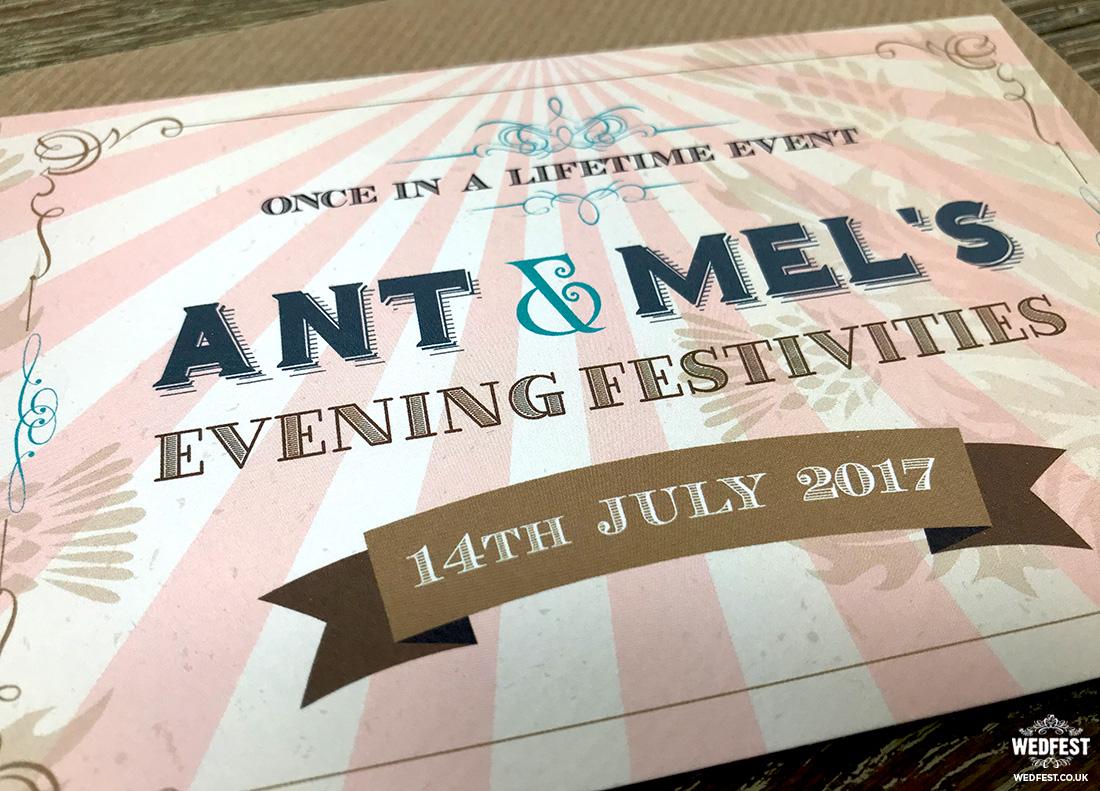 Ticket Wedding Invitations Vintage Festival Ticket Wedding
