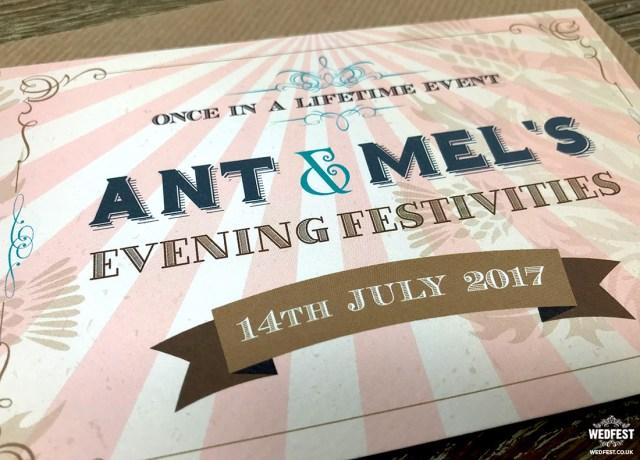 Ticket Wedding Invitations Vintage Festival Ticket Wedding Invitations Wedfest