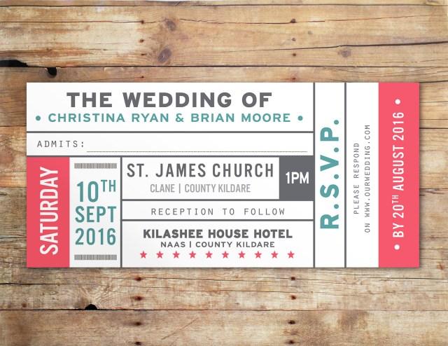 Ticket Wedding Invitations Vintage Ticket Wedding Invitations Uk Ireland