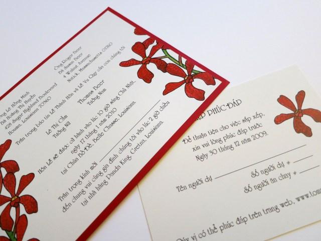 Vietnamese Wedding Invitations Here Are The Vietnamese Versions Of The Wedding Invitation And Reply