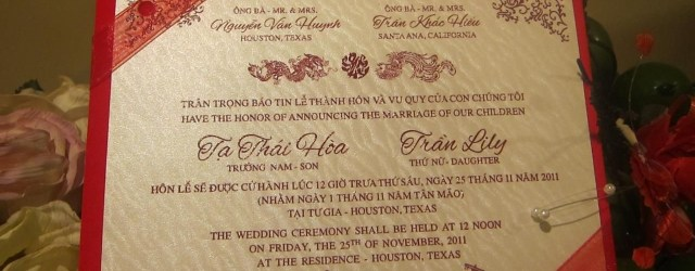 Vietnamese Wedding Invitations Vietnamese Invitation Wedding Pinterest Wedding Wedding