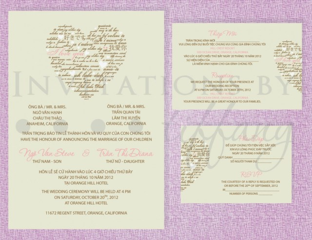 Vietnamese Wedding Invitations Vietnamese Wedding Invitation Wedding Decor Ideas Traditional