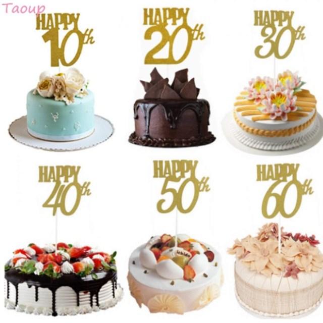 Wedding Cake Decorating Supplies Senarai Harga Taoup 10 20 30 40 50 60 Happy Birthday Cake Topper