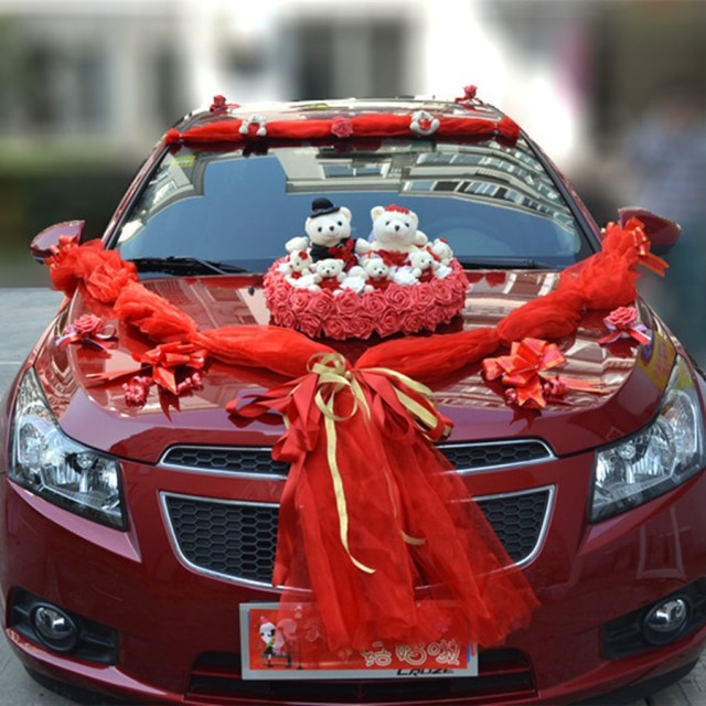 Wedding Car Decoration Kit Aluxury Car Flower Design Decoration Kit Wedding Car Decoration