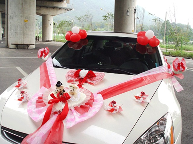 Wedding Car Decoration Kit Wedding Car Decorations Kit Red Teddy Bear Dolls Ribbon Etsy