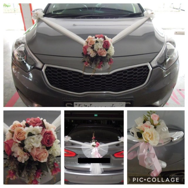 Wedding Car Decoration Wedding Car Decoration Bridal Car Decoration Everything Else On