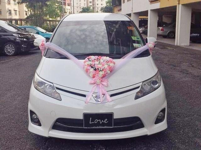 Wedding Car Decoration Wedding Car Decoration Love Flower Blushing Blooms
