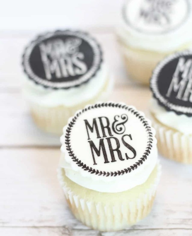 Wedding Cupcake Decorations Easy Edible Wedding Cupcake Toppers I Scream For Buttercream