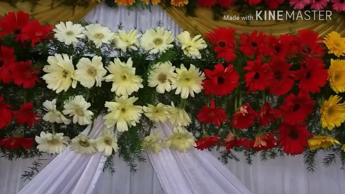 Wedding Flower Decorations Marriage Wedding Flowers Stage Decoration Videos Youtube