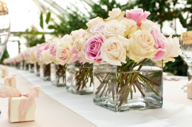 Wedding Flower Decorations Wedding Table Flower Arrangements Rose Centerpieces For Weddings
