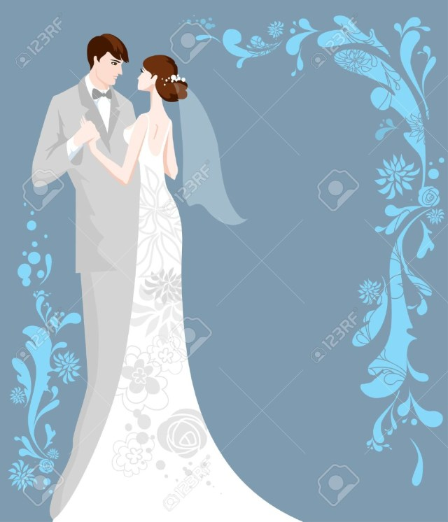 Wedding Invitation Background Blue Wedding Background With Space For Text Royalty Free Cliparts