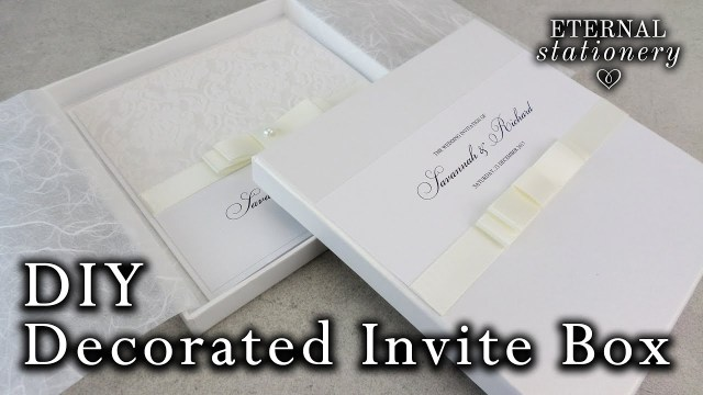 Wedding Invitation Boxes How To Decorate Your Own Invitation Box With A Dior Bow Diy
