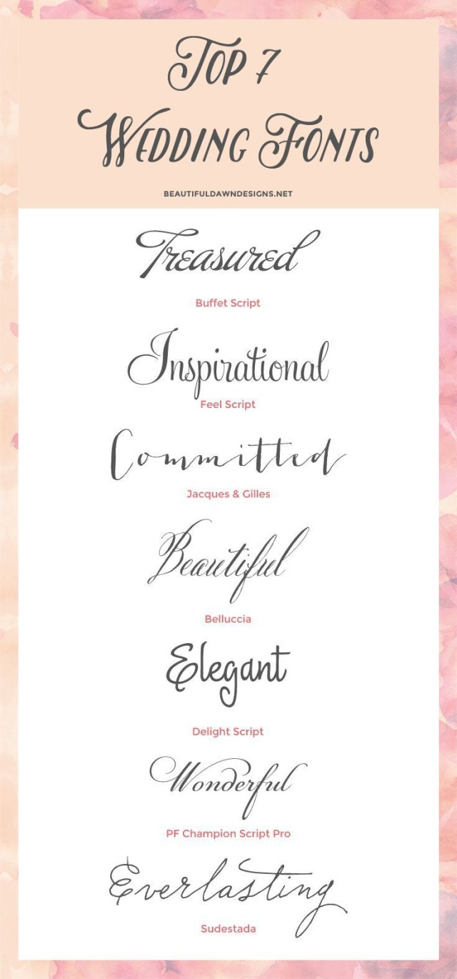 Wedding Invitation Fonts My Top 7 Fonts For Weddings Save The Date Wedding Invitations