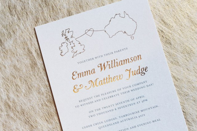 Wedding Invitation Ideas Stationery For A Wedding Abroad An Essential Guide Foil Invite
