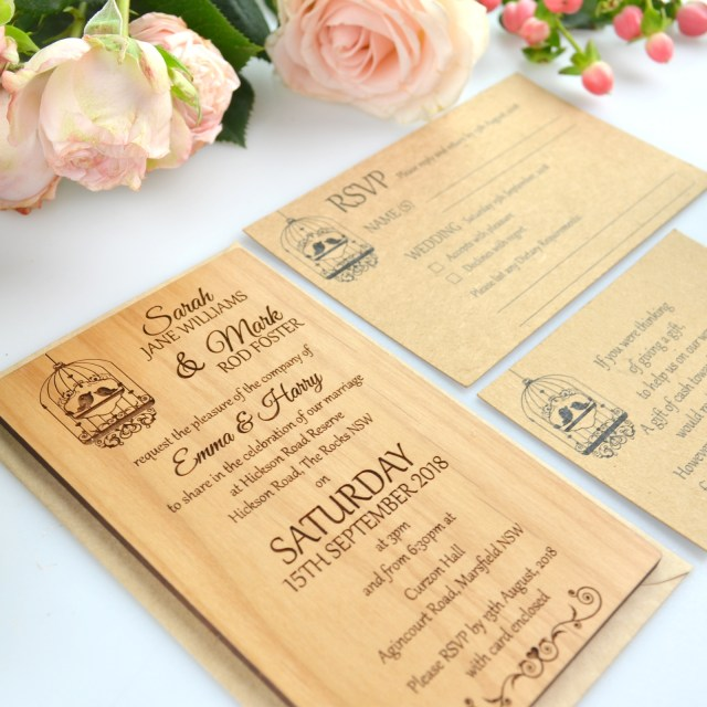 Wedding Invitation Images 11b Size Engraved Wooden Wedding Invitations Wooden Invites Unique