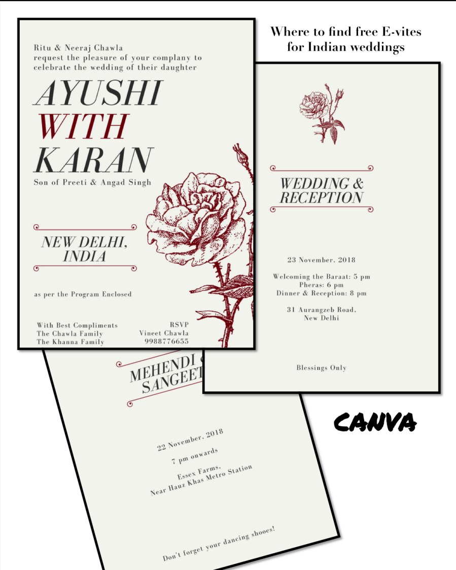 Wedding Invitation Maker Best Places To Get Free Online Wedding Invitations For Indian Weddings