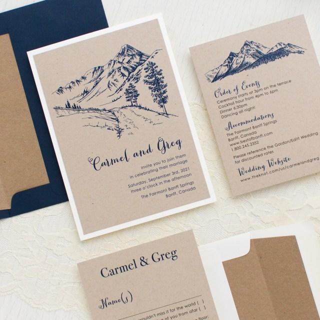 Wedding Invitation Pictures Rustic Mountain Customizable Vintage Wedding Invitations Beacon Lane
