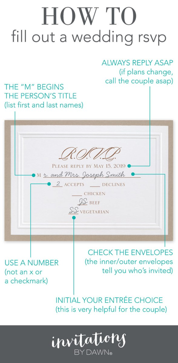 Wedding Invitation Rsvp Fill Out A Wedding Rsvp Invitations Dawn