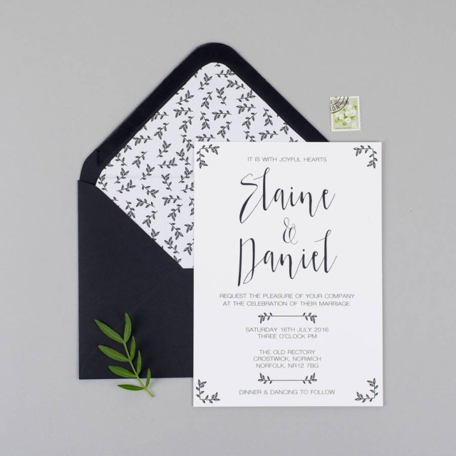Wedding Invitation Rsvp Modest Love Wedding Invitation And Rsvp Eliza May Prints