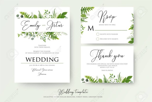 Wedding Invitation Rsvp Wedding Invitation Floral Invite Thank You Rsvp Modern Card