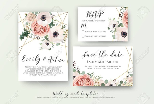 Wedding Invitation Rsvp Wedding Invite Invitation Rsvp Save The Date Card Design With
